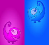 Banner chameleon Royalty Free Stock Images