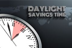 Banner for change your clocks message for Daylight Saving Time Stock Images