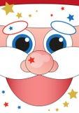 Banner - cheerful Santa Claus. Vector banner - cheerful Santa Claus Royalty Free Stock Photo