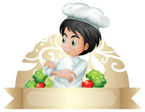 Banner and chef Stock Images