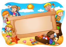 Banner and children Royalty Free Stock Photos