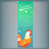Banner with 2017 Chinese New Year Elements. Rooster. Bokeh. Vector illustration. Vector illustration of Banner with 2017 Chinese New Year Elements. Bokeh stock illustration