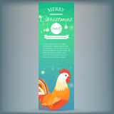 Banner with 2017 Chinese New Year Elements. Rooster. Bokeh. Vector illustration. Vector illustration of Banner with 2017 Chinese New Year Elements. Bokeh royalty free illustration