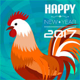 Banner with 2017 Chinese New Year Elements. Rooster. Bokeh. Vector illustration. Vector illustration of Banners Set with 2017 Chinese New Year Elements. Bokeh vector illustration