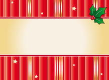 Banner christmas. Illustration of banner christmas with holly Royalty Free Stock Photo