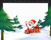 Banner with Christmas Royalty Free Stock Photo