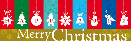 Banner Christmas and New Year Greetings 2012 Royalty Free Stock Photography
