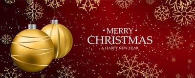 Banner on Christmas theme Stock Photo