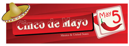 Banner for Cinco de Mayo Stock Images