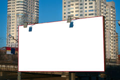 Banner in city Royalty Free Stock Photo