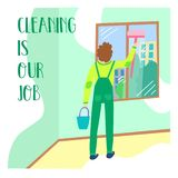 Banner cleaning service company stock photography