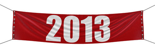 2013 Banner (clipping path included). Big 2013 Banner. Image with clipping path royalty free illustration