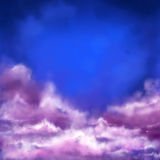 Banner with clouds Royalty Free Stock Photo