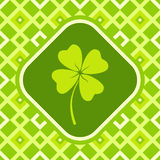 Banner with clover Royalty Free Stock Photos