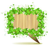 Banner with clover Royalty Free Stock Photography