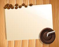 Banner and coffee Royalty Free Stock Photos