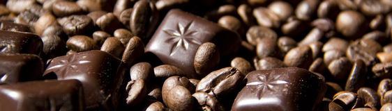 Banner - Coffee and Chocolate Stock Image