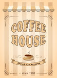 Banner for coffee house Royalty Free Stock Photography