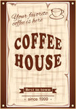 Banner for coffee house Royalty Free Stock Images