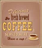 Banner for coffee Royalty Free Stock Image