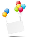Banner with color glossy balloons Royalty Free Stock Photography