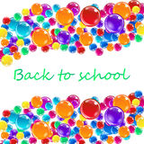 Banner with colored balloons, letters. Royalty Free Stock Images
