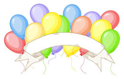 Banner with colorful balloons. Vector illustration of a banner with colorful balloons Royalty Free Stock Images