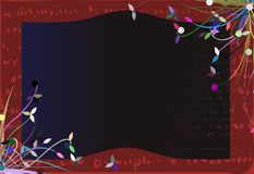 Banner on colorful floral background Royalty Free Stock Photos