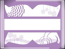 Banner on colorful floral background Stock Images