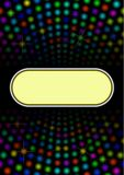 Banner. Colorful lights background with banner Stock Image