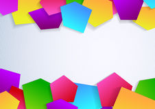 Banner with colorful tile elements Royalty Free Stock Images