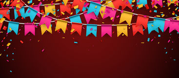 Banner with colour flags. Royalty Free Stock Photography