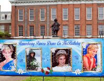 Banner commemoration the 60th Birthday of Princess Diana