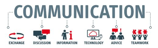 Banner communication illustration royalty free illustration