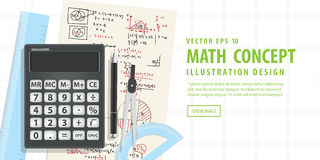 Banner Computational Mathematics With Calculators Royalty Free Stock Images