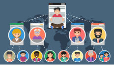 Banner - concept of social network Royalty Free Stock Images
