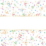 Banner with confetti and streamer Stock Photo
