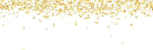 Banner with confetti. Royalty Free Stock Photos