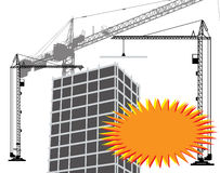Banner and construction Royalty Free Stock Photos