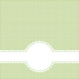 Banner with Copy Space on checkered pattern Royalty Free Stock Photo