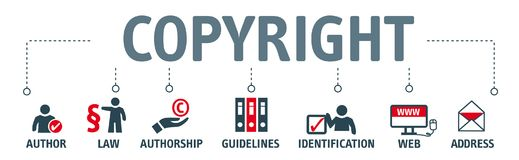Banner copyright concept Royalty Free Stock Images