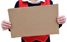 Banner of corrugated cardboard Stock Photo