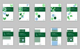 Banner cover template set design for web and book printing with Royalty Free Stock Photo