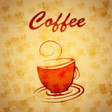 Banner cup of coffee Stock Photos