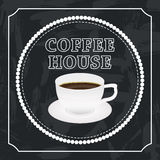 Banner with a cup of coffee Stock Photos