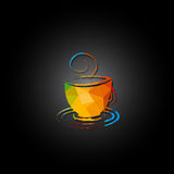 Banner cup of coffee Royalty Free Stock Photos