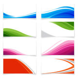 Banner Curve style 0001 Royalty Free Stock Photo
