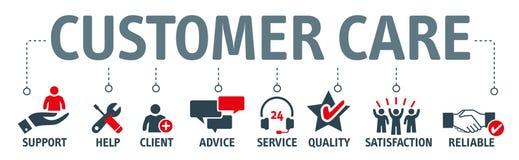 Banner Customer Care Vector Illustration vector illustration