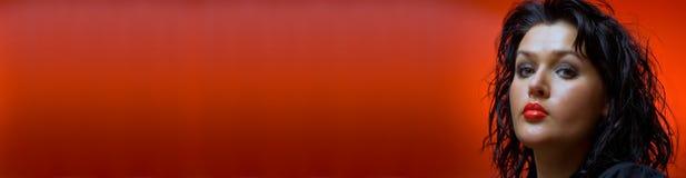 banner czerwony Fotografia Royalty Free
