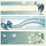 Banner with Dancing Hippo, Ribbon and Cloud. Banner with Dancing Hippo, Ribbon and abstract Cloud Stock Photography